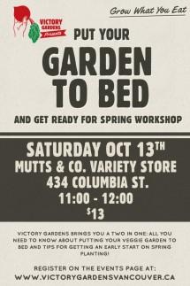 Garden to bed Workshop