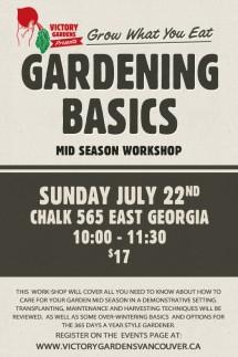 Gardening Basics mid season