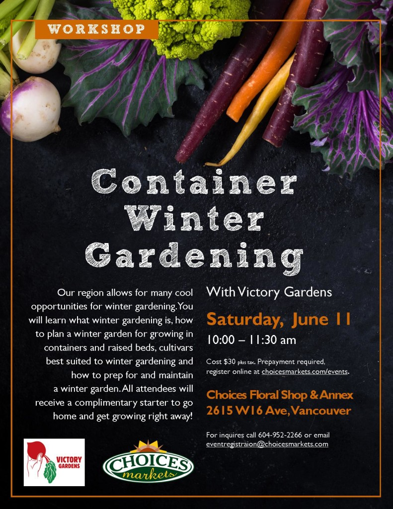 winter container gardening at choices market in kits victory gardens