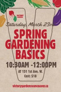 Spring Gardening Basics March 23rd 13v1
