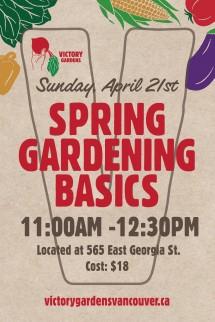 Spring Gardening Basics April 21 13