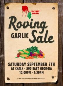 Garlic Sale Sept 7th 2013