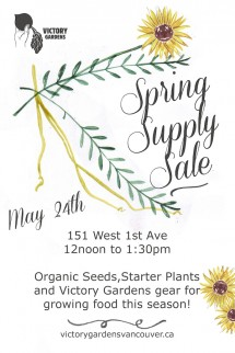 Spring Supply Sale May 24-14